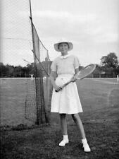 5x Vintage Negatives.Young Lady Dressed For Tennis.1920