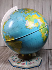 Vintage J  Chein   Co  Tin Litho  Old World Globe with Flags on Base