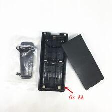 6xAA Battery case box for Icom IC-V8 V82 F30GT F40GTF31GS F3GS F11with belt clip
