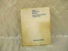 Commodore Users Reference Manual BASIC Version 4.0 Vintage 1980