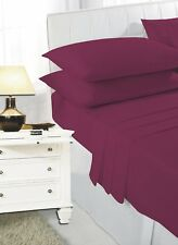Poly Cotton Plain Dyed Fitted Sheets, Flat Sheets & Pillow Cases in All sizes