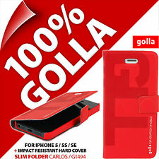 Golla Slim Folder Protective Phone Case Wallet Cover for Apple iPhone 5 5S SE