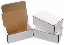 50 - 5 x 3 x 2 White Corrugated Shipping Box Packing Mailer Boxes