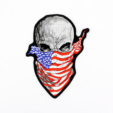 Biker Chopper Motorrad Rising Skull Bandit Totenkopf US Aufbügler Aufnäher Patch
