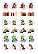 24 LIBRO/BOOK cupcake wafer riso commestibili DECORAZIONI PER TORTA FATA