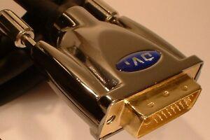 2m DVI - HDMI Cable DVI-D DUAL 24K Gold PRO Quality Multi Shield OFC  6ft long