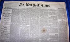 ANTIQUE NEWSPAPER, NY TIMES JUNE 25,1866 Florida. Slavery, Free Blacks 7 Wk War