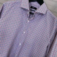Hugo Boss Sharp Fit Mark US L/S Button Dress Shirt Check Men's Size 16 34/35