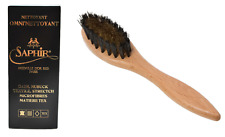 Saphir Medaille d'Or Suede Cleaner Omni-Nettoyant and Oval Beechwood Suede Brush