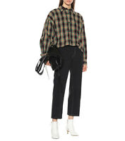 ISABEL MARANT Macao Plaid Cotton And Linen Shirt Size 34 Orig. $530 NWT
