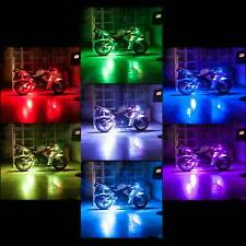 Remote Controlled Multi Color RGB 8 Strip Motorcycle Accent LED Lighting Kit