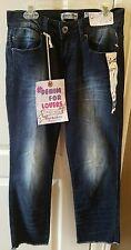 NEW Indigo Rein size 3 Blue Jeans Crop Straight Leg Light Wash NWT