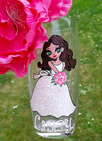 Personalised Hand Painted Highball Glass flower girl Wedding Gift