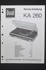 Dual KA 260 ORIGINAL SERVICE MANUAL/Guide/ WIRING DIAGRAM! O14
