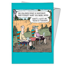 C3987BDG Funny Single Birthday Greeting Card: Start A Sentence with Envelope
