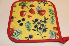 NOW DESIGNS Potholder Hot Pad BERRY PATCH COLLECTION NWT 100% Cotton MULTI