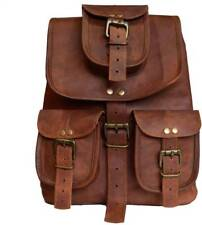 New Large Genuine Soft Leather Back Pack Rucksack Travel Bag Men's and Women's