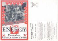 RICCIONE,ENERGY FITNESS CLUB ,CARTOLINA PUBBLICITARIA ANNI 90 -48022