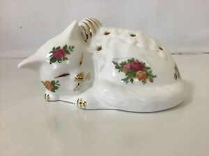 Royal Albert Old Country Roses Kitten Pomander / England / Mint Condition