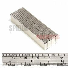 10 Neodymium Block Magnets 50mm x 10mm x 1.5mm strong thin magnet 50x10x1.5 mm