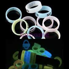 10 Rubber Silicone Vape Band Ring Protection for your Tank / MOD Glow Fashion