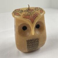 Vintage Wax Owl Candle 1970s 1960s Vtg Cute 60s 70s