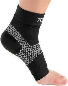 Zensah Unisex Plantar Fasciitis Sleeve Compression Foot Plantar Black Size S