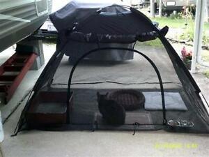 Pet Dog Cat Tent - New - Black - Free P&P - Netted Cat Dog Enclosure - Summer
