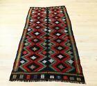 Cappadocia Hand Knotted Tribal Carpet Turkish Vintage Kilim Accent Rug 4x7 ft