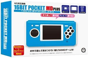 MD PLUS Compatible 16BIT POCKET Console Sega Handheld Game F/Shipping from Japan