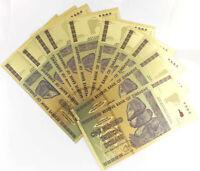 Wholesale 10 Pcs Color Gold Banknotes 1000 Euros Paper Money Crafts Gift Ideas