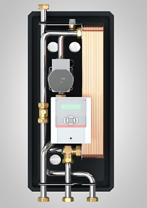Frischwasserstation 40L/min Wärmetauscher Edelstahl Frischwassermodul