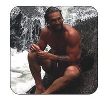 Jason Momoa Fridge Magnet Large size 9cm by 9cm photo