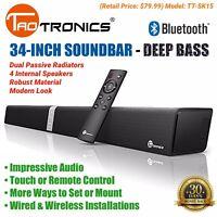 """34"""" Sound Bar 4-Speaker TV Surround Wired Wireless Bluetooth TaoTronics TT-SK15"""