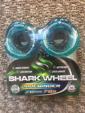 Shark Wheels Longboard Sidewinder Tech 70mm 78a Clear AQUA BLUE New!