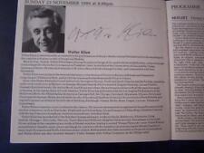 Walter Klien - Stephen Bishop-Kovacevich  Autograph (LE7)