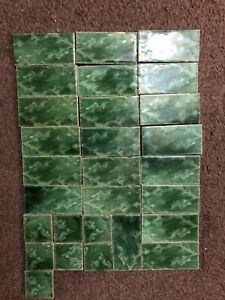 Victorian or Edwardian antique spacer tiles x 28
