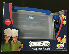 Kitchen Pretend Play Faro Delonghi Mircrowave Oven Cooking Chef Ages 3 Toy Girls