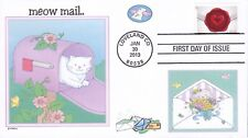 MEOW MAIL  CATS  BIRDS  BUTTERFLY  FLOWERS   SEALED WITH LOVE FDC- DWc  #2
