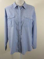 NEXT denim style cotton shirt. Blue. Sz 14 Eu 42. Light. 2 front pockets.