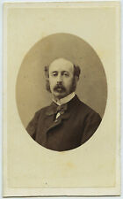 CDV 1865 Grillet & Cie à Naples. Un dénommé de la Haye. Autographe. Napoli. Ital