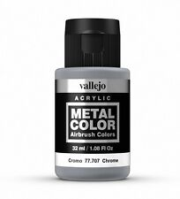 Vallejo Metal Color Chrome 77.707 Acrylic Water-Based Paint 32ml