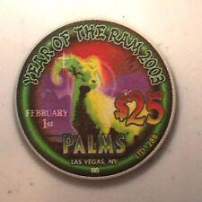 """Palms Las Vegas $25 casino chip """"2003 Year of the Ram"""""""