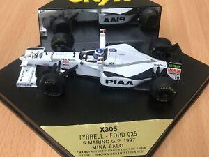 ONYX 1:43 Scale F1 Model X305 Tyrell- Ford 025 Mika salo San marino GP 1997_