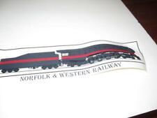 """NORFOLK & WESTERN BUMPER STICKER- 16"""" LONG - EXC- M6"""