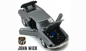 HY-61 1/18 John Wick's 1969 Ford Mustang Boss 429 Charcoal Grey FULLY OPENING