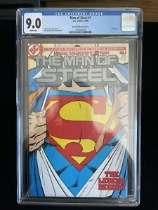 1986 DC Comics MAN OF STEEL #1 Collectors Edition CGC 9.0 White Pages, 6003