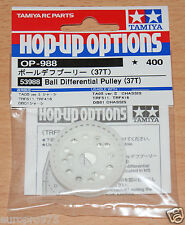 Tamiya 53988 Ball Differential Pulley (37T) (TRF416/TRF417/DB01/TA05V.2/TRF511)