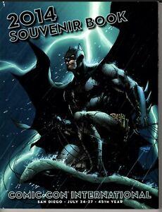 2014 San Diego Comic Con SDCC Jim Lee Batman Cover Art Souvenir Book Rare!