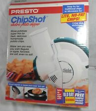 1993 PRESTO ChipShot Electric Potato Chip Slicer 0296001 Regular & Ripple Cones